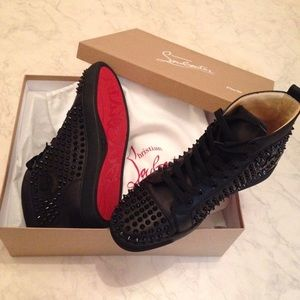 Christian Louboutin Louis Flat Calf Spikes